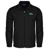 Full Zip Black Wind Jacket-Sage Gators Wordmark