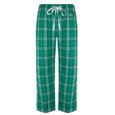 Green/White Flannel Pajama Pant-Sage w/Gator Head