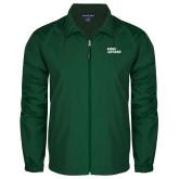 Full Zip Dark Green Wind Jacket-Sage Gators Wordmark