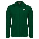 Fleece Full Zip Dark Green Jacket-Sage Gators Wordmark