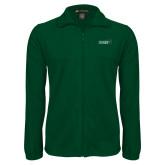 Fleece Full Zip Dark Green Jacket-Sage w/Gator Head