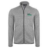 Grey Heather Fleece Jacket-Sage Gators Wordmark
