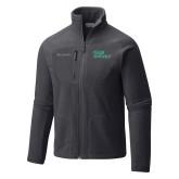Columbia Full Zip Charcoal Fleece Jacket-Sage Gators Wordmark