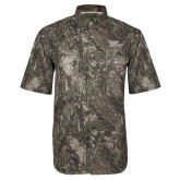 Camo Short Sleeve Performance Fishing Shirt-Sage Gators Wordmark