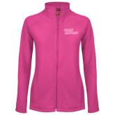 Ladies Fleece Full Zip Raspberry Jacket-Sage Gators Wordmark