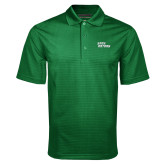 Dark Green Mini Stripe Polo-Sage Gators Wordmark
