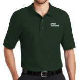 Dark Green Easycare Pique Polo-Sage Gators Wordmark