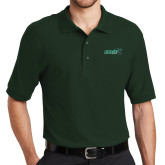 Dark Green Easycare Pique Polo-Sage w/Gator Head