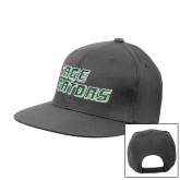 Charcoal Flat Bill Snapback Hat-Sage Gators Wordmark