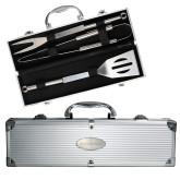 Grill Master 3pc BBQ Set-Sage Gators Flat Engraved