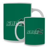 Full Color White Mug 15oz-Sage w/Gator Head
