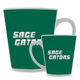 Full Color Latte Mug 12oz-Sage Gators Wordmark