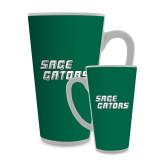Full Color Latte Mug 17oz-Sage Gators Wordmark
