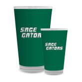 Full Color Glass 17oz-Sage Gators Wordmark