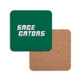 Hardboard Coaster w/Cork Backing-Sage Gators Wordmark