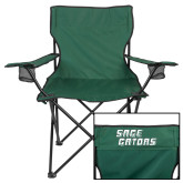 Deluxe Green Captains Chair-Sage Gators Wordmark