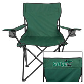 Deluxe Green Captains Chair-Sage w/Gator Head