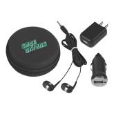 3 in 1 Black Audio Travel Kit-Sage Gators Wordmark