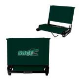 Stadium Chair Dark Green-Sage w/Gator Head