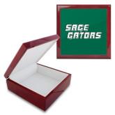 Red Mahogany Accessory Box With 6 x 6 Tile-Sage Gators Wordmark