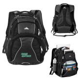 High Sierra Swerve Black Compu Backpack-Sage Gators Wordmark
