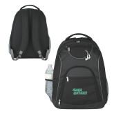 The Ultimate Black Computer Backpack-Sage Gators Wordmark