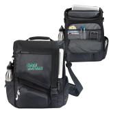 Momentum Black Computer Messenger Bag-Sage Gators Wordmark