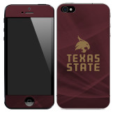 iPhone 5/5s/SE Skin-Texas State Logo Stacked