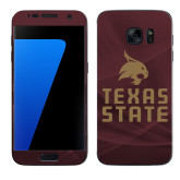 Samsung Galaxy S7 Skin-Texas State Logo Stacked