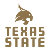 Medium Decal-Texas State Logo Stacked, 8 inches tall