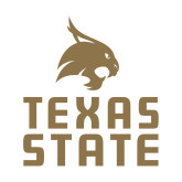 Small Decal-Texas State Logo Stacked, 6 inches tall