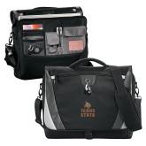 Slope Black/Grey Compu Messenger Bag-Texas State Logo Stacked