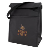 Black Lunch Sack-Texas State Logo Stacked