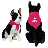 Fuchsia Pet Bandana-Texas State Logo Stacked