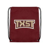 Maroon Drawstring Backpack-TXST Texas State