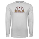 White Long Sleeve T Shirt-Bobcats Baseball