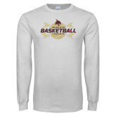 White Long Sleeve T Shirt-Bobcats Basketball
