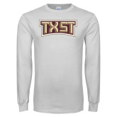 White Long Sleeve T Shirt-TXST Texas State