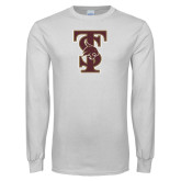 White Long Sleeve T Shirt-Baseball TS