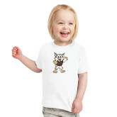 Toddler White T Shirt-Bobcat Mascot