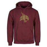 Maroon Fleece Hoodie-Bobcat Logo