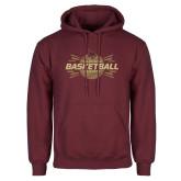 Maroon Fleece Hoodie-Bobcats Basketball