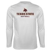 Performance White Longsleeve Shirt-Softball