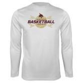 Performance White Longsleeve Shirt-Bobcats Basketball
