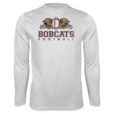 Performance White Longsleeve Shirt-Bobcats Football