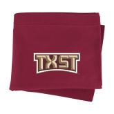 Maroon Sweatshirt Blanket-TXST Texas State