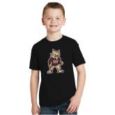 Youth Black T Shirt-Mascot