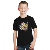 Youth Black T Shirt-Mascot Head