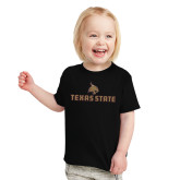 Toddler Black T Shirt-Texas State Secondary