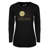 Ladies Syntrel Performance Black Longsleeve Shirt-Texas State Volleyball